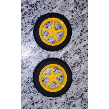 Ultraleichträder 63mm Durchmesser/gelb