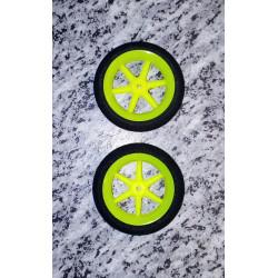Ultraleichtrad 50mm Durchmesser/neongelb