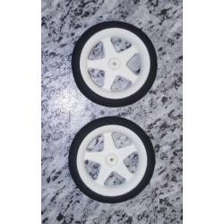 Ultraleichtrad 60mm Durchmesser/weiß